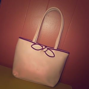Furla Pale Pink Leather Satchel Bag